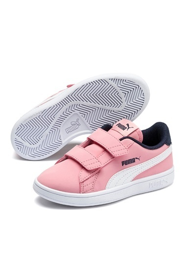 Puma Puma 36518316 Puma Smash v2 Buck Pembe - Lacivert Kız Çocuk Yürüyüş Ayakkabısı Pembe